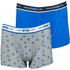 2pk FCUK Blue/Grey Boxer Shorts, Underwear, Pants  2-3y, 3-4y, 4-5y  Rrp £15