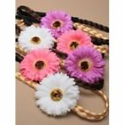 Plaited Imitation Hair Bandeaux Headband With Gerbia Flower Attached
