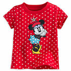 Disney Store Classic Minnie Mouse Red Polka Dot Girls Baby Shirt 3 12 18 Months