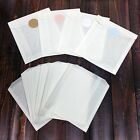 White Glassine Paper Bags And 1.5' Stickers, Choose Your Size / Color- FOOD SAFE