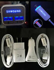 Fast Rapid Charging LED Car charger&Wall charger For Samsung Galaxy Note 5 S7 S6