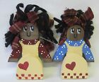 Handmade Country Rustic Kitchen Girl Shelf Sitter Ornament Please Select