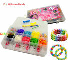 Pro Kit Colorful rubber bands clips tool Loom Bands 600pcs 2000pcs 4200pcs