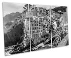 Lake Maggiore Italy B&W CANVAS WALL ART TREBLE Box Frame Print