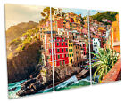 Lake Maggiore Italy CANVAS WALL ART TREBLE Box Frame Print