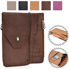 Universal Genuine Leather Vertical Protective Phone Sleeve Pouch Case Cover MO6