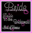 Iron On Transfer - Bride Wedding Bling