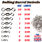 Rolling Barrel Swivels Size 1/0 1 2 4 6 8 Sea Coarse Carp Pike Fishing