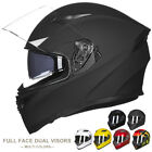 ILM 9 Color Full Face Dual Visor Motorcycle Street Bike Helmet DOT  Motorcross