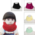Baby Winter Warm Cable Knit Infinity Scarf Cowl Neck Wool Shawl Wrap Snood Kids