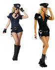Sexy black Cop Police Lady Woman Halloween Costume Uniform Complete 6,8,10,12,14