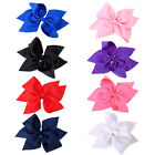 10 Inch  Hair Bow Boutique Grosgrain Ribbon Knot BowKnot Alligator Clip For Girl