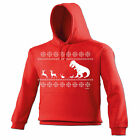Christmas LUNCH T-Rex HOODIE dinosaur santa father hoody funny x-mas gift