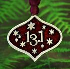 Christmas Ornament For 13.1 Half Marathon Runners Decoration In Fine Pewter