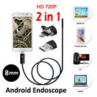 2M/5M HD 720P 2.0MP 2in1 USB Endoscope Android Borescope Camera Waterproof 6 LED