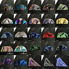 HIGHEST QUALITY 100% SILK HAND MADE POCKET SQUARE PAISLEY PATTERNS HANKIES 22cm