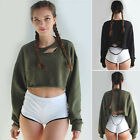 New Women Casual Long Sleeve Hoodie Ripped Jumper Pullover Sweatshirt Tops Shirt