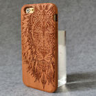 Mobile Phone cases Real Wooden wood Caved Words for iPhone 7 7 plus 6 6s-6-plus