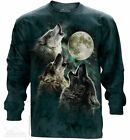 The Mountain Three Wolf Moon Long Sleeve T Shirt Howling Wolves Wolf Pack Tee