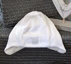 Pure Cotton PEX Warm & Fleecy Lined Baby Hat White or Pink Newborn or 6 Months