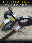 WAZOO SURVIVAL GEAR STANLESS STEEL CUSTOM PARACORD BRACELET ID TAG BUSHCRAFT EDC