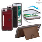 Official Pierre Cardin Genuine Leather TPU Bumper Case Card Slot Stand Cover