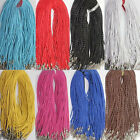 New 10/100pcs Man-made Leather Braid Rope Hemp Necklace 3mm You choose color