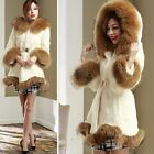 Fashion Womens Hooded Coat Faux Fur Clothing Soft Parkas Overcoat Ourwear Jacket
