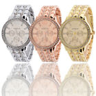 Crystal Luxury Women's Men Stainless Steel Band Quartz Analog Wrist Watch New