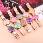 Fashion Geneva Ladies Women Girl Unisex Stainless Steel Quartz Wrist Watch image