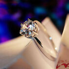 Fashion Rings Luxury Zircon Crystal Women Silver Plated  Ring Brand New