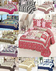 SkylineWears 3 Piece 100% Cotton Quilt Set Printed Quilted Bedspread Queen