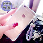 Luxury Bling Diamond Wristlet Strap Shockproof Rugged Rubber Soft Gel Case Cover
