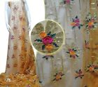 3D ELEGANT TULLE EMBROIDERY FLORAL BEADS BRIDAL DRESS FABRIC 5YDS LOT