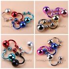 4/20Pairs Unisex Mixed Colors Punk Style Studs Earrings Personality Jewelry L