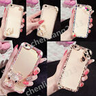 Bling 3D Handmade Diamonds TPU Ultra Soft Thin Clear Gel Case Cover For Samsung