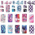 For Samsung Apple Fashion Leather Wristlet Case Stand Card Slot Flip Book Cover