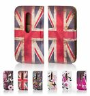 PU Leather Design Book Wallet Case Cover for Motorola Phones + Screen Protector