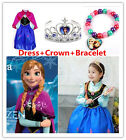 Hot Style Girls Dresses Disney Anna Frozen Dresses Cosplay Princess Costume*****