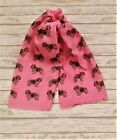 cavalier king charles spaniel womens scarf with dogs on fashion printed shawl