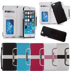 Flip Case Shock Proof Cover Card Holder Wallet For iPhone / Xperia / LG / HTC