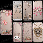For Samsung Bling Handmade Diamonds TPU Ultra Soft Thin Clear Gel Case Cover