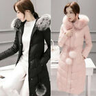 Women Winter Long Down Coat Warm Hooded Down Jacket Parka Trench Outerwear New