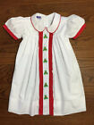 New Christmas holly embroidered dress * 6m - 6 * smocked holiday holly boutique