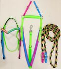 PVC Bridle, breastplate & Reins - Multi Coloured