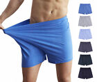 Hot 100% Cotton Men's Underwear Solid Boxer Briefs High Waist Comfy Shorts
