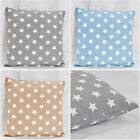 3 Colors White Star Pattern Cotton Canvas Safo Decor Cushion Cover Pillowcase