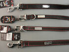 BRET MICHAELS DOG COLLAR LEASH PETS ROCK LEATHER BLACK RED BROWN PINK STITCH NWT