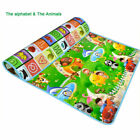 2 SIDE BABY MAT KIDS CRAWLING EDUCATIONAL PLAY SOFT FOAM BABY CARPET 200X180CM <br/> UK SELLER*****HIGH QUALITY *****SAME DAY DISPATCH