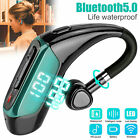 Bluetooth Headset Handsfree Wireless Earpiece Noise Reduction Microphone Earbud